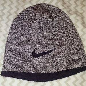 Nike reversible purple beanie